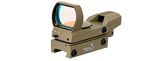 Lancer Tactical 4 Reticle Red Control Reflex Sight (TAN)