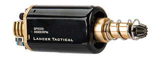 Lancer Tactical Long Type Super High Torque AEG Motor Version 2 [35,000 RPM] (BLACK/GOLD)
