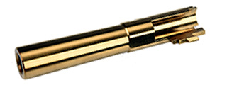 COWCOW Bull Style Threaded Outer Barrel for TM Hi-Capa 4.3 GBB Pistols (GOLD)