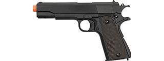 Double Bell M1911A1 Metal Body Airsoft Spring Pistol (Black)