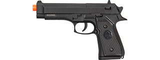 Double Bell M9 Metal Body Airsoft Spring Pistol (BLACK)