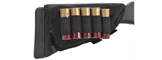 Lancer Tactical Tactical Hook and Loop Shotgun Shell Holder (BLACK)