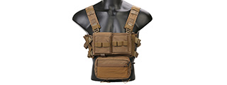 Emerson Gear Low Profile Modular Chest Rig System (COYOTE BROWN)