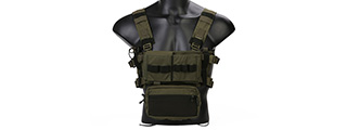Emerson Gear Low Profile Modular Chest Rig System (RANGER GREEN)