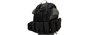 Flyye Industries 1000D 9-Pouch Maritime Force Recon Vest [LRG] (BLACK)