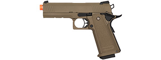 Golden Eagle IMF 3303 OPS-M.RP Tactical HiCapa Semi-Auto GBB Metal Pistol, DE