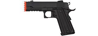 Golden Eagle IMF 3317 HiCapa Semi-AutoGBB Metal Pistol w/ Integrated Muzzle Break, BK