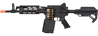 Golden Eagle MCR Light Machine Gun LMG Airsoft AEG Rifle [Short Barrel] (BLACK)