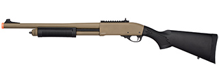 Golden Eagle M870 3/6-Shot Pump Action Gas Airsoft Shotgun (TAN)