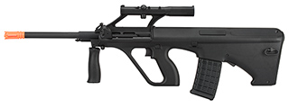 GHK AUG A1 Gas Blowback Airsoft Rifle (BLACK)