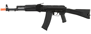 GHK AK74 AKS-74MN Metal Receiver Gas Blowback Airsoft Rifle (BLACK)