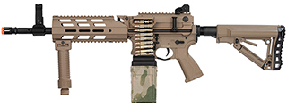 G&G CM16 LMG Airsoft Light Machine Gun AEG (TAN)