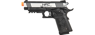 HFC HG-171 Tactical 1911 Gas Blowback Pistol (SILVER / BLACK)