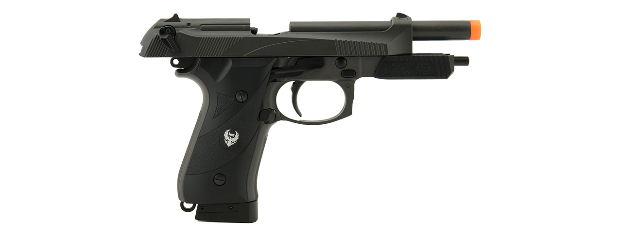 HFC AIRSOFT 192 CO2 POWERED AIRSOFT PISTOL W/ ACCESSORY RAIL- BLACK