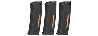 KWA 120rd MS120 Mid Capacity Airsoft AEG Rifle Magazine [3 Pack] (BLACK)