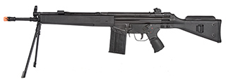 LCT LC-3 SG1 Full Size AEG Airsoft Rifle w/ Cheek Rest and Bipod (BLACK)