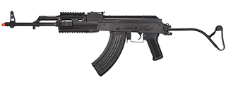 LCT Airsoft TIMS AK47 AEG Rifle w/ Folding Wire Stock (Black)
