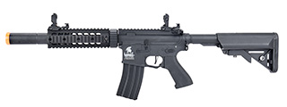 "Lancer Tactical LT-15 Hybrid Gen 2 M4 SD 7"" Airsoft AEG [HIGH FPS] (BLACK)"