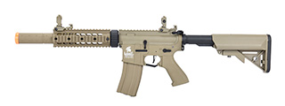 "Lancer Tactical LT-15 Hybrid Gen 2 M4 SD 7"" Airsoft AEG [HIGH FPS] (TAN)"