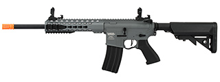 "Lancer Tactical LT-19 ProLine Series M4 Carbine 10"" AEG [HIGH FPS] (GRAY)"