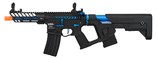 Lancer Tactical Enforcer NEEDLETAIL Skeleton AEG [LOW FPS] (BLACK + BLUE)