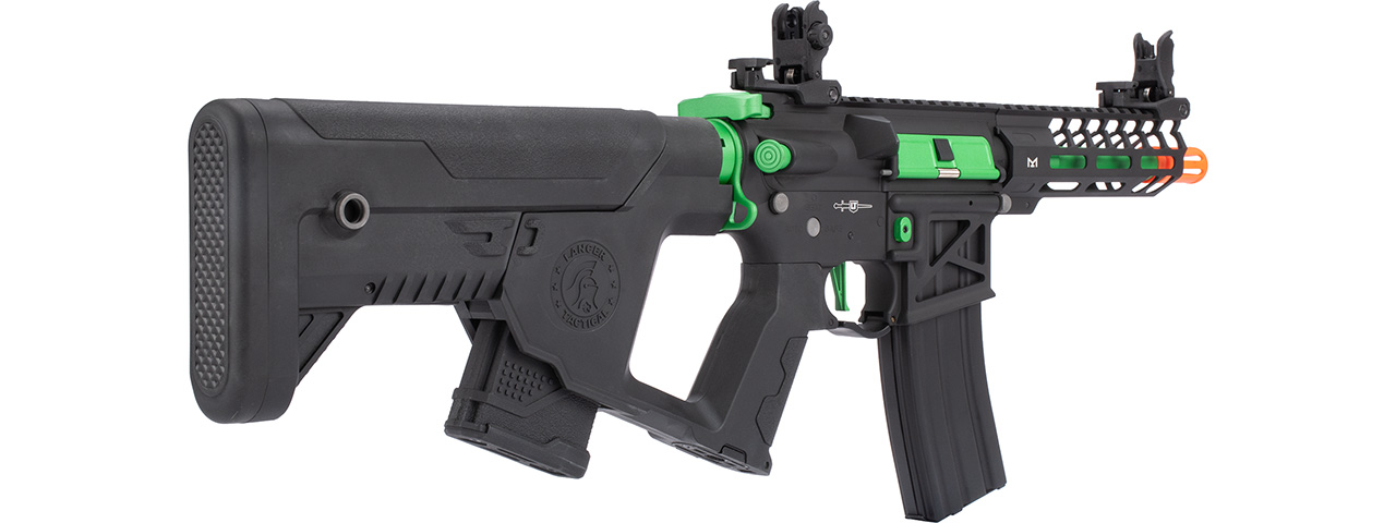 Lancer Tactical Enforcer NEEDLETAIL Skeleton AEG [HIGH FPS] w/ Alpha Stock (BLACK/GREEN)