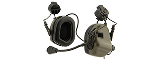 Earmor M32H MOD3 Tactical Communication Hearing Protector for FAST Helmet (FOLIAGE GREEN)