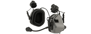 Earmor M32H MOD3 Tactical Communication Hearing Protector for FAST Helmet (GRAY)