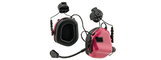 Earmor M32H MOD3 Tactical Communication Hearing Protector for FAST Helmet (PINK)