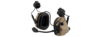 Earmor M32H MOD3 Tactical Communication Hearing Protector for FAST Helmet (TAN)