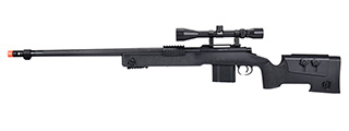 WellFire MB4416 M40A3 Bolt Action Sniper Rifle w/ Scope (BLACK)