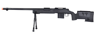 WellFire MB4416 M40A3 Bolt Action Sniper Rifle w/ Bipod (BLACK)