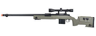 WellFire MB4416 M40A3 Bolt Action Sniper Rifle w/ Scope (OD GREEN)