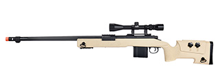WellFire MB4416 M40A3 Bolt Action Sniper Rifle w/ Scope (TAN)