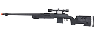 WellFire MB4417 M40A3 Bolt Action Airsoft Sniper Rifle w/ Scope (BLACK)