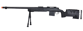 WellFire MB4417 M40A3 Bolt Action Airsoft Sniper Rifle w/ Bipod (BLACK)