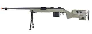 WellFire MB4417 M40A3 Bolt Action Airsoft Sniper Rifle w/ Bipod (OD GREEN)