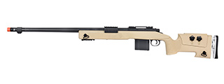 WellFire MB4417 M40A3 Bolt Action Airsoft Sniper Rifle (TAN)