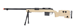 WellFire MB4417 M40A3 Bolt Action Airsoft Sniper Rifle w/ Bipod (TAN)