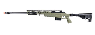 WellFire MB4418-1 Bolt Action Airsoft Sniper Rifle (OD GREEN)
