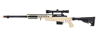 WellFire MB4418-1 Bolt Action Airsoft Sniper Rifle w/ Scope (TAN)