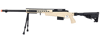 WellFire MB4418-1 Bolt Action Airsoft Sniper Rifle w/ Bipod (TAN)