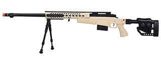 WellFire MB4418-2 Bolt Action Airsoft Sniper Rifle w/ Bipod (TAN)