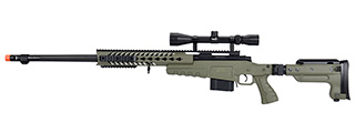 WellFire MB4418-3 Bolt Action Airsoft Sniper Rifle w/ Scope (OD GREEN)