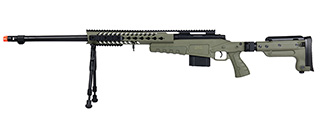 WellFire MB4418-3 Bolt Action Airsoft Sniper Rifle w/ Bipod (OD GREEN)