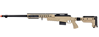 WellFire MB4418-3 Bolt Action Airsoft Sniper Rifle (TAN)