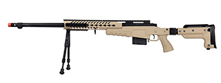WellFire MB4418-3 Bolt Action Airsoft Sniper Rifle w/ Bipod (TAN)