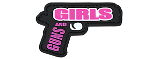 G-Force Guns and Girls PVC Morale Patch (BLACK / PINK)