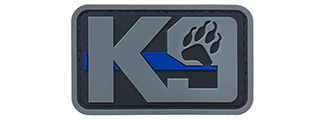 G-Force K9 Dog Paw PVC Morale Patch (GRAY)