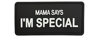 "G-Force ""Mama Says I'm Special"" PVC Morale Patch (BLACK)"
